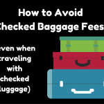 How to Avoid Checked Baggage Fees When Checking Bags