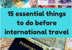international travel checklist for traveling abroad