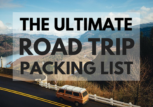 Road Trip Essentials Checklist Road Trip Packing List