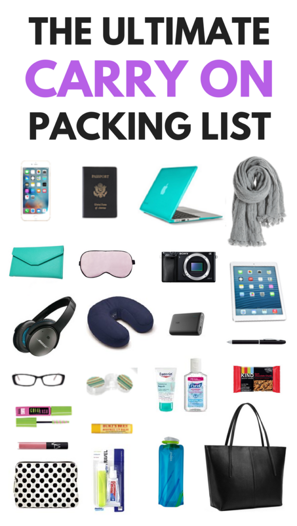 The ultimate carry on packing list for every trip.