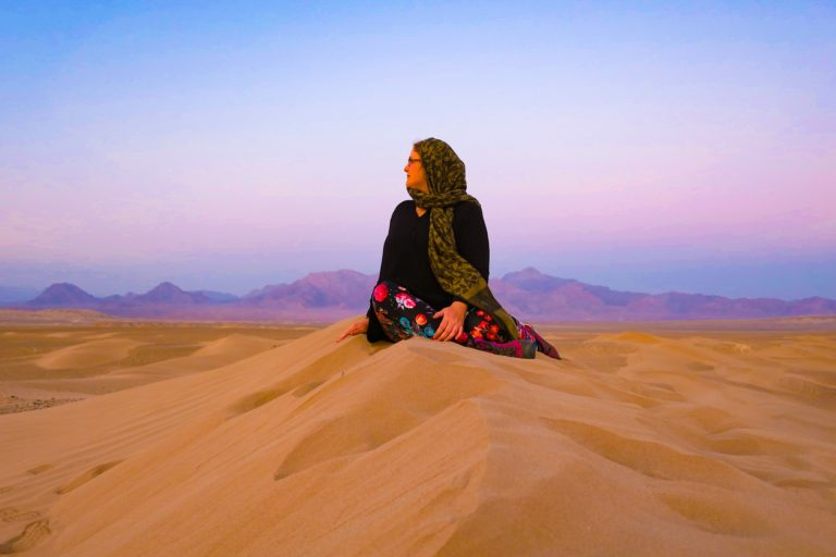 Exploring the desert at sunset is one of the top 10 things to do in iran travel blog