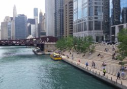 the Chicago Riverwalk in September