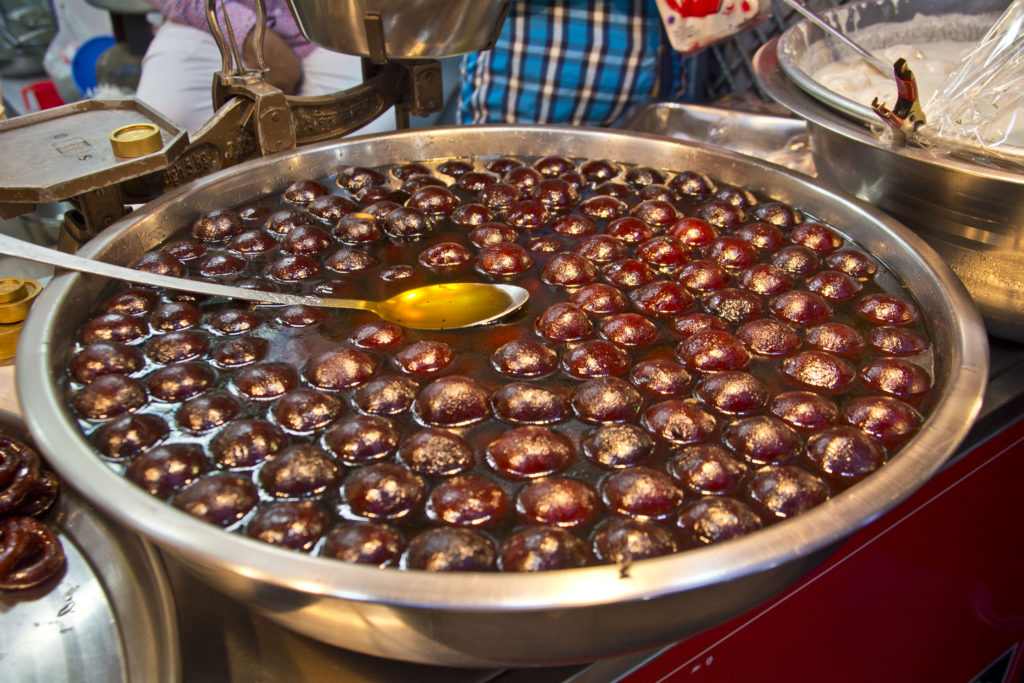 Gulab Jamun sweet - what to eat in new delhi india