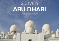 2 Days in Abu Dhabi Itinerary travel blog