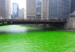 Watching the Chicago River dyed green is one of the best things to do in Chicago Illinois in March