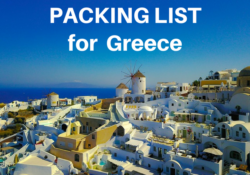 What to Pack for Greece Packing List