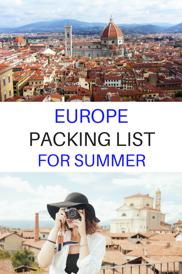 Not sure what to pack for your trip to #Europe this summer? Click through for a complete summer packing list for Europe including what to wear and other European travel essentials. *********Europe Packing Tips Vacations | Europe Packing Summer Trips | Europe Packing Summer Products | Europe Packing Summer Check Lists | Europe Packing List June | Europe Packing List September | #europepackinglist #packingtips #packingforEurope #europepacking #packinglistforEurope #europetravel #europetraveltips