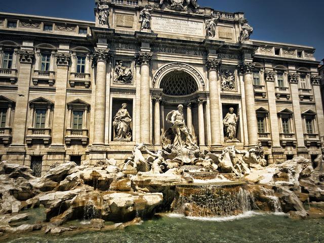 Trevi Fountain in Rome. Italy