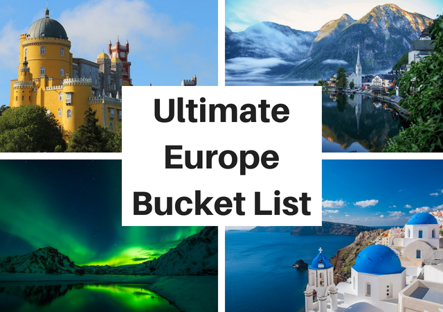 Ultimate Europe Travel Bucket List Challenge
