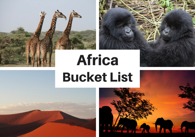 Things to do in Africa Bucket List