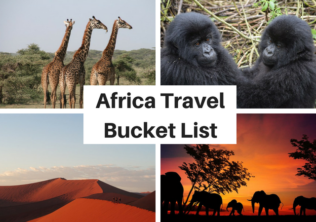 Things to do in Africa Travel Bucket List