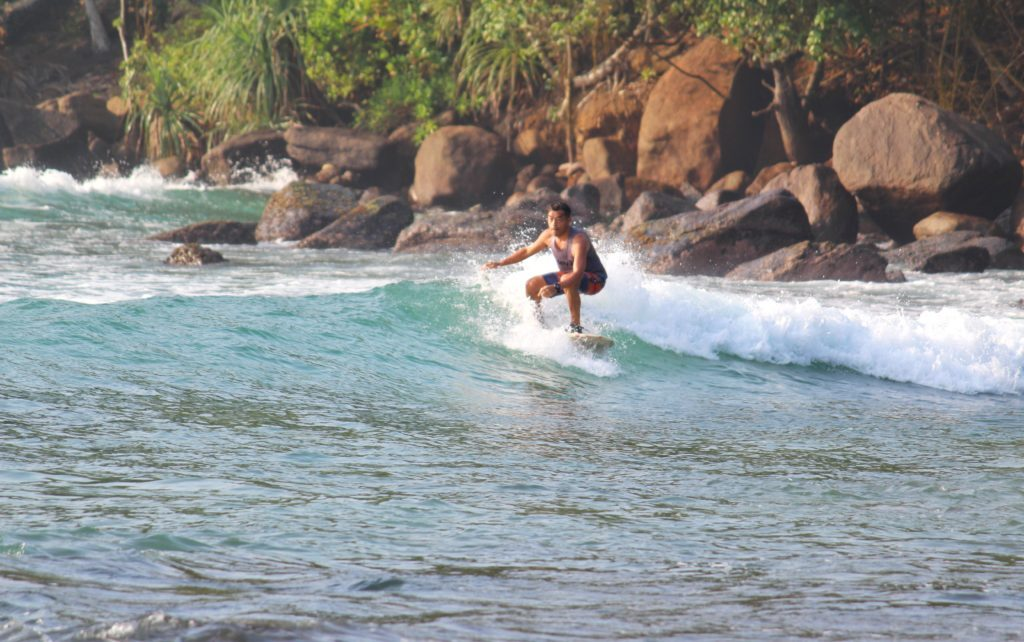 surfing is one of the best things to do in Mirissa Sri Lanka