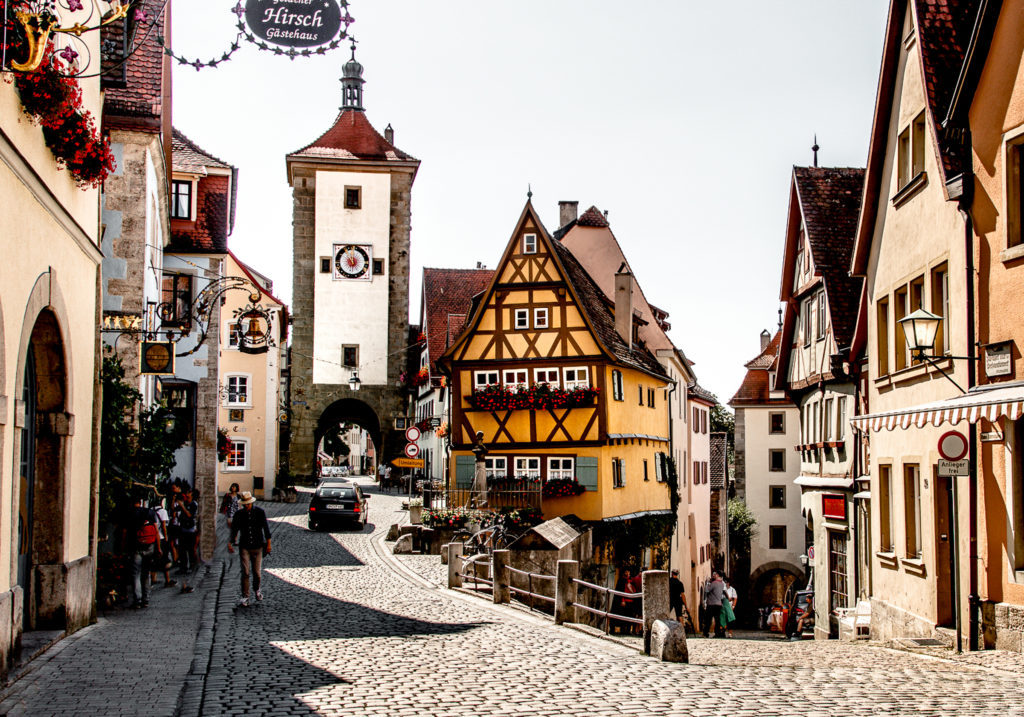 Rothenburg ob der Tauber fairytale town in Germany