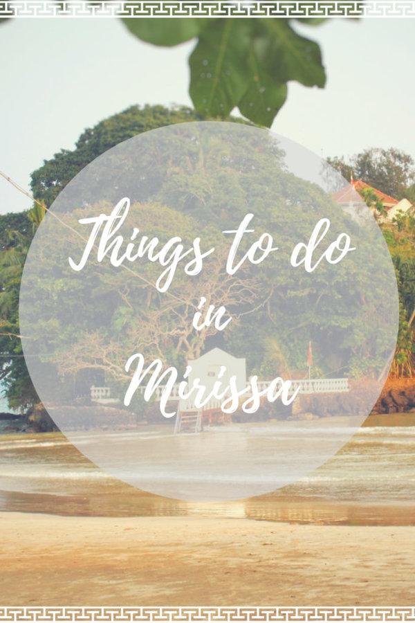 Top Things to do in Mirissa Sri Lanka travel blog