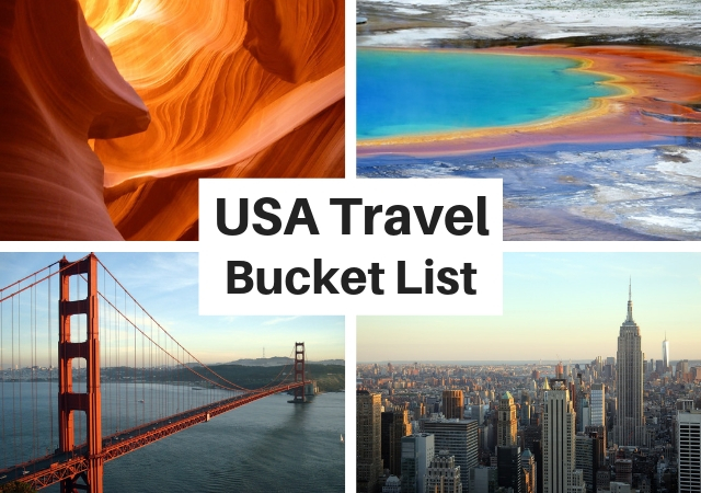 USA Travel Bucket List