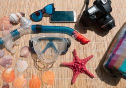 scuba diving and snorkeling gear