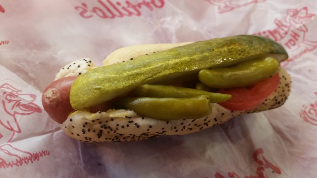 Chicago style hot dog