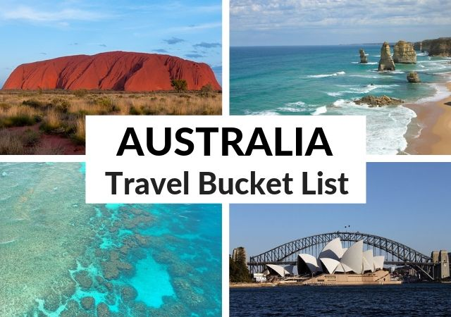 Best Places to Visit in Australia Travel Bucket List Challenge
