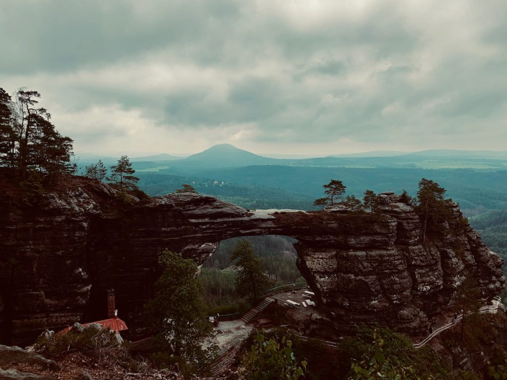 Pravcicka Gate in Bohemian Switzerland National Park one of the best day trips from Prague