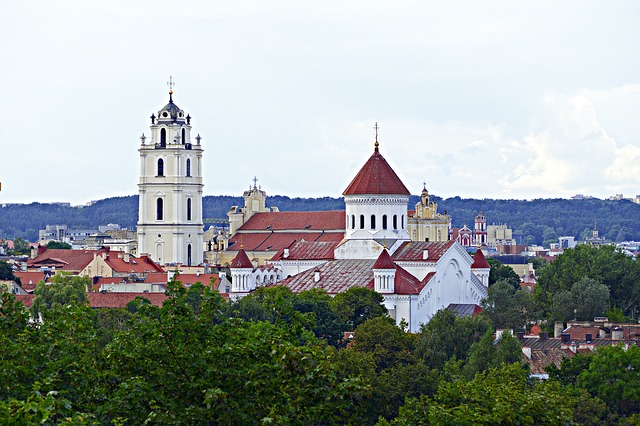 view of Vilnius Lithuania