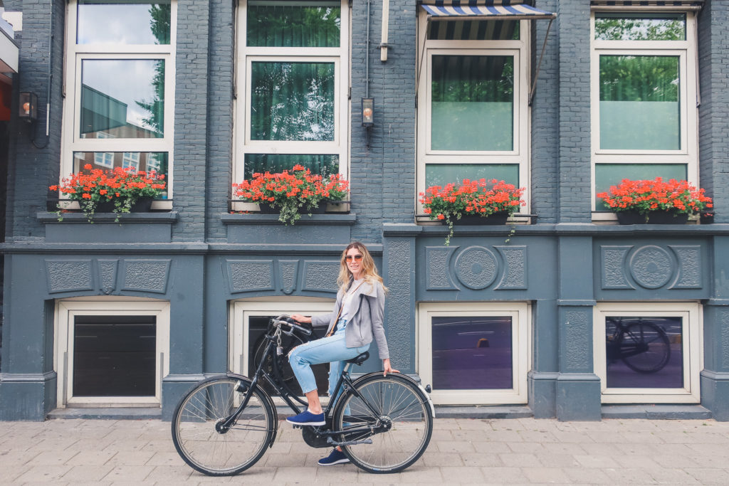 Riding a Bike in Amsterdam travel blog
