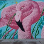 Flamingo Wall in Chicago (Replaced By New Songbird Mural)