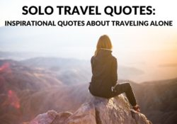 Solo Travel Alone Quotes