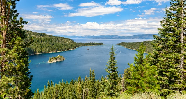 Fannette Island in Emerald Bay Lake Tahoe in summer activities