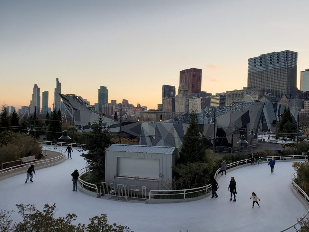 outdoor ice skating is one of the best things to do in Chicago in February 2021
